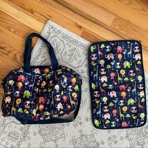 Lesportsac diaper bag and changing pad